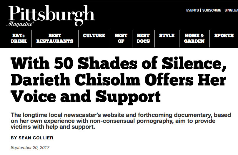 With 50 Shades of Silence, Darieth Chisolm Offers Her Voice and Support